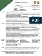 Ashritha Durvasula Resume