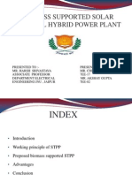 Biomass Supported Solar Thermal Hybrid Power Plant