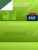 Instituciones Nacionales y Supranacionales de Mineria