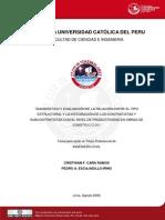 2006 Diagnostico y Evaluación de la Relacion entre el Tipo Estructural y la Integracion de los Contratistas y Subcontratistas con el Nivel de Productividad en Obras de Contruccion