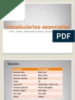 Vocabularios esenciales