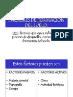 SUELO II FACTORES DE FORMACIÓN