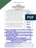 Orissa Flood  News Alert Jul 22 09