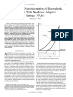 Modeling the Nanoindentation of Elastoplastic Materials With Nonlinear Adaptive Springs (NASs)