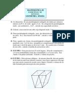 Exercícios de Revisão.Geometria Sólida