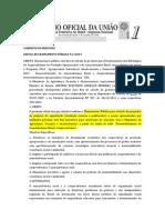 EDITAL CHAMAMENTO PÚBLICO MAPA