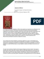 El Destino de Las Lenguas Indigenas de Mexico Miguel Leon Portilla