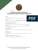 Plenitud Volunteer and Internship Application Form