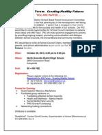 PIC Parent Forum Invitation