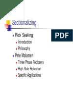 Sectionalizing Presentation