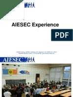 AIESEC Experience Mariana Curnic. Weekend de Pregatire, Toamna 2013
