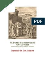 XX DOMINGO DESPUÉS DE PENTECOSTÉS. card. schuster