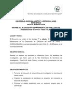 Informe Xi Encuentro Departamental Semilleros de Investigacion-redcolsi