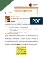 Recomendaciones Para Realizar Exitosas Presentaciones en Power Point