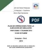 Plan Operaciones de Simulacro de Sismo 10 Octubre