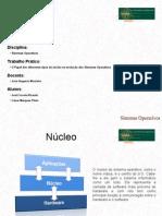 Apresentação - Nucleos dos sistemas operativos
