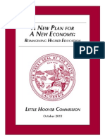 The Little Hoover Commission Report on Higher Education, October 2013