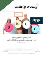 October 15, 2013 Fellowship News