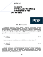 4. Pressure Drawdown Testing Techniques for Oil Wells
