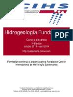 """Folleto 3ª Edición Curso """"Hidrogeología fundamental"""""""
