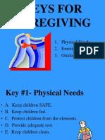 keys for caregiving