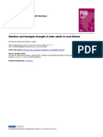 2007 - OK-Nutrition and Handgrip Strength of Older Adults in Rural Malawi