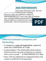 Companies and Partnerships