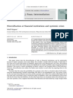 Diversification at Financial Institutions and Systemic Crises