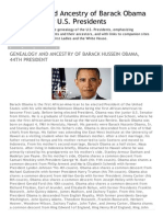 Genealogy and Ancestry of Barack Obama