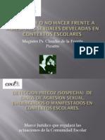 Agresiones Sexuales Develadas en Contextos Escolares, Agosto 2013.