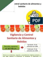 Vigilancia y Control Sanitario de Alimentos y Bebidas