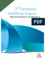 Tasmanian Bushfire Inquiry recommendations