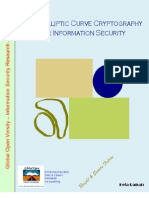 Using Elliptic Curve Cryptography for Information Security
