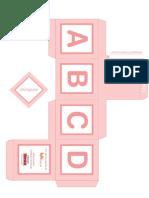 Cubo Alfabeto Rosa Template