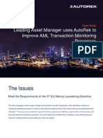 Leading Asset Manager Uses AutoRek to Improve AML Transaction Monitoring Processes