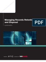 Managing Records Retention and Disposal