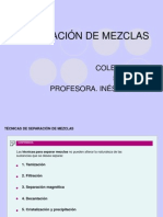 SEPARACIÓN DE MEZCLAS