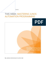This Week - Mastering Junos Automation Programming