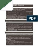 Resumen Propuesta Reforma Fiscal