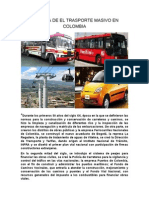 Historia de El Trasporte Masivo en Colombia