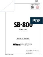 NIKON SB-800 Repair Manual