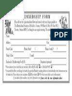 Join Us Membership Form