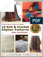 The Most Popular Patterns for Afghans 16 Knit and Crochet Afghan Patterns From Lion Brand