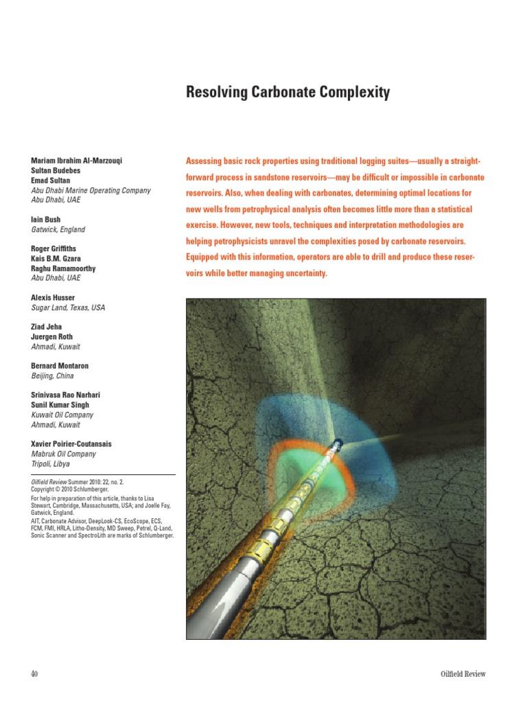 Resolving Carbonate Complexity- SCHLUMBERGER | Porosity | Petroleum