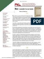 Rilke_ El Resistir Lo Es Todo