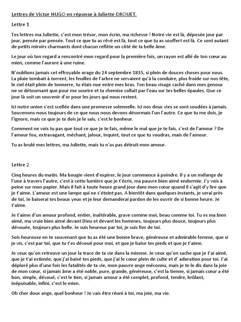 Victor A Juliette Amour Fiction Et Littérature