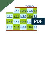 Tabuada No Excel