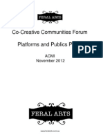 "Norm Horton Feral Arts ""Platforms and Publics"" CoCreative Communities forum"