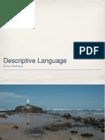 descriptive language ppt