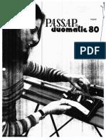 Passap Duomatic 80 Manual
